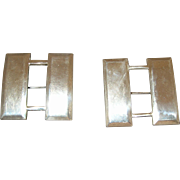 4 WWII Captain Insignia Bars Pins 2 Sterling Silver
