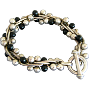 Iconic DNA Sterling Silver & Onyx Mexican Bracelet