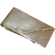 Vintage Golf Club Sterling Silver Money Clip