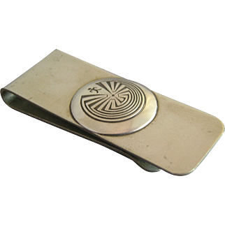 Sterling Silver Man in the Maze Money Clip