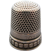 Goldsmith Stern Putti Heads Sterling Silver Thimble