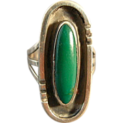 Vintage Sterling & Turquoise Native American Ring