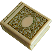Art Deco Advertising Decorated Celluloid Presentation Ring Box