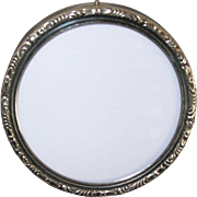 Small Round Vintage Sterling Silver Lunt Photo Frame