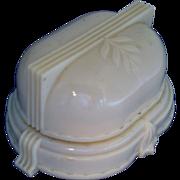 Vintage Art Deco Celluloid Plastic Double Ring Presentation Jewelry Box