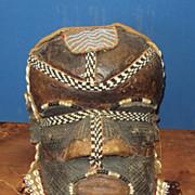African Mask Helmet, Tribal Mboom, Kuba Zaire