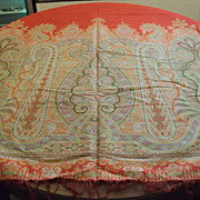 Antique Paisley Shawl woven wool