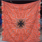 Kashmir Antique Paisley Shawl wool
