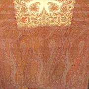 Kashmir woven wool Antique Paisley Shawl