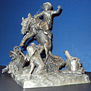 Pewter figurine by Don Polland