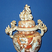 Antique Satsuma Urn Oriental Japanese