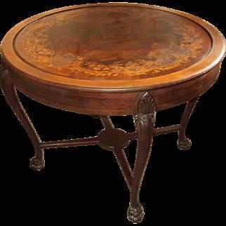 Flip Top Game Table Inlaid wood top
