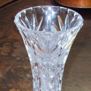Hand Cut Lead Crystal Vase German Imperlux