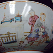 Antique Chinese Famille Rose Large Bowl Rare