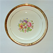 Salad / Soup Bowl 8 in, 22kt gold rim floral Stetson China USA