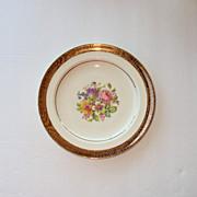6 inch Plate 22kt gold rim Stetson China USA