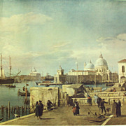 "36 X 27 in. Lithograph Canaletto's ""The Quay of the Piazzetta"""