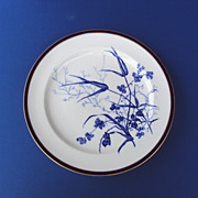 5 Dinner Plates Cobalt Blue George Jones and Son c.1890 Stoke England