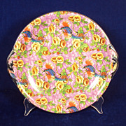 English Chintz Serving Plate 10.5 inches Baker and co. Ltd