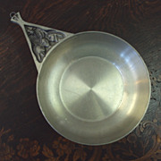 Pewter Dish by Dr. Ivan H. Crowell handmade Huron Carol 1977 signed