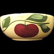Watt Pottery #53 Open Baker Apple w three Leaves Advertisement