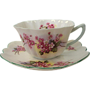 Teacup and Saucer by Shelley, England, bone china