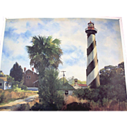 St Augustine Lighthouse print by Joel Reichard