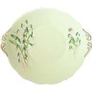 Royal Albert England Cake serving plate Laurentian Snowdrop