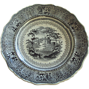 Transferware by Stevenson and Son ca. 1832, Staffordshire England, Cologne black pattern