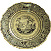 Transferware by Stevenson and Son in 1832, Staffordshire England, Cologne black pattern