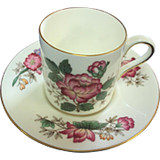 Wedgwood Demitasse Cup and Saucer Charnwood