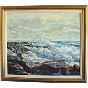 Marine Oil Painting Seascape Ocean signed Boyce - Smith