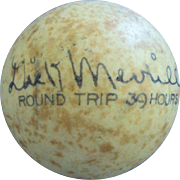 1936 First Round Trip Trans-Atlantic Flight autographed by Dick Merrill and Harry Richman