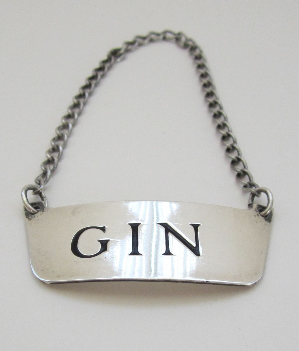 Handsome American Sterling Silver Liquor Decanter Tag