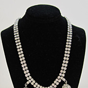 Vintage Rhinestone Necklace with Rondelles