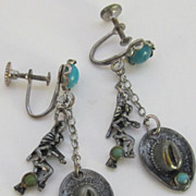 Wonderful Vintage Cowboy Hats, Indians and Turquoise earrings