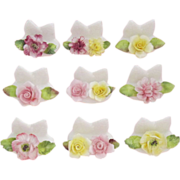 Se of Nine COALPORT Bone China Place Card Holders