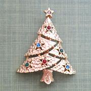 Vintage Christmas Tree Pin/Brooch