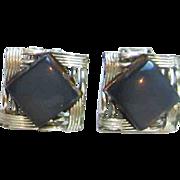 Vintage Coro Silver Tone Earrings