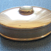 Lovely Vintage Sterling Silver Pill Box