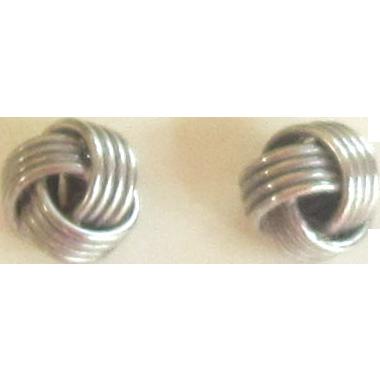 Vintage Sterling Silver Knot Earrings