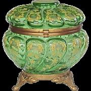 Exquisite Victorian Glass Vanity Jar,