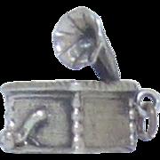 Vintage Sterling Silver Danecraft Gramophone Charm