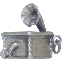 Vintage Sterling Silver Danecraft Gramophone Charm