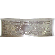 Sterling Silver Rectangle Napkin Ring