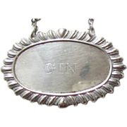 Sterling Silver Decanter Tag