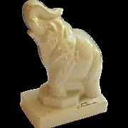1930s Crackle Glaze Craqueleure Elephant, Jean de la Fontinelle, French Art Deco