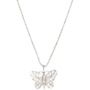 Sterling Silver Butterfly Pendant and Chain