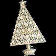 Vintage Eisenberg Ice Rhinestone Christmas Tree Pin