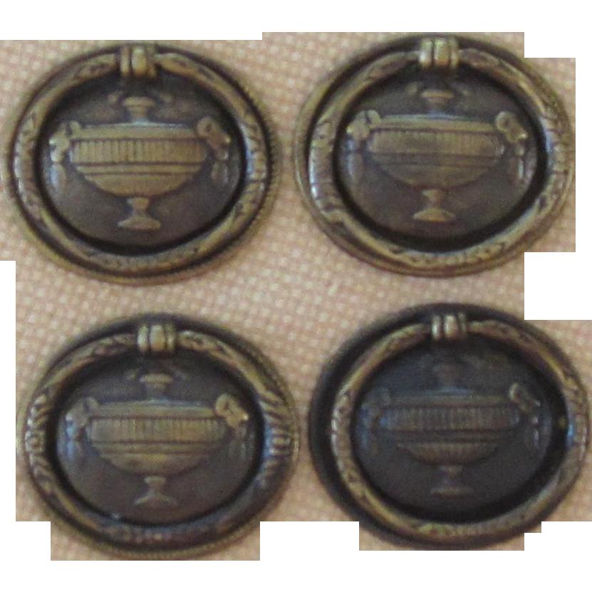 Vintage  Hepplewhite Brass Drawer Handles (4)